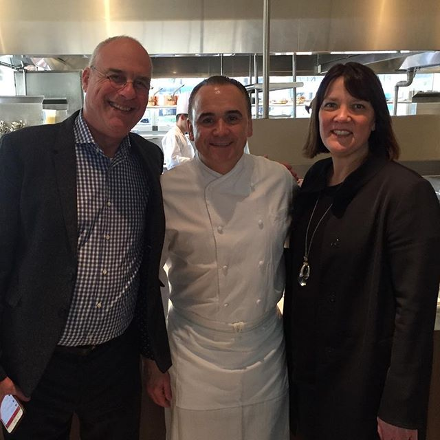 A wonderful lunch today @markbittman. What an exceptional treat with JG. Thank you.